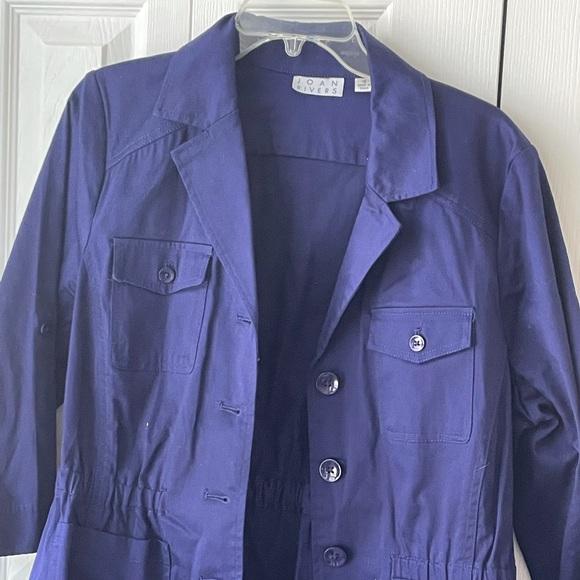 Joan Rivers Navy Blue Blazer